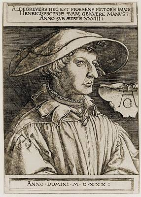 Self-portrait Photograph - Heinrich Aldegrever 1502-1561, German by Everett