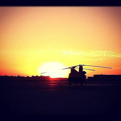 Helicopter Photograph - #helicopter #airplane #sunset by Artistic Shutter