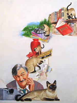 Helping Kitty Original by Cliff Spohn