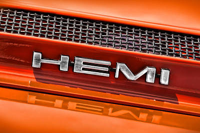 Hemi Plymouth Gtx Hood Badge Original by Gordon Dean II