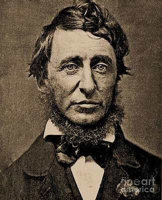 Henry David Thoreau Print by Pg Reproductions