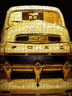 Henrys Ford Truck Print by David Lee Thompson