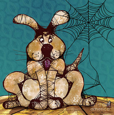 Her Woven Web Print by Laura Brightwood