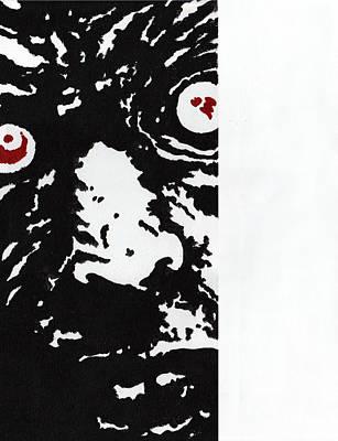 Here Is Zombie Print by Steve Benton