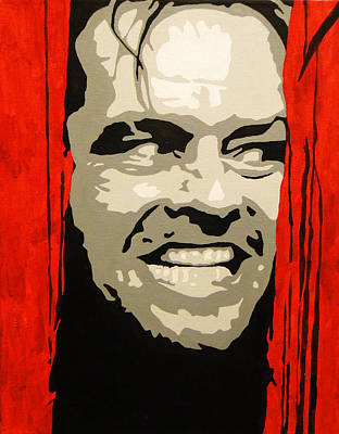 Jack Nicholson Painting - Here's Johnny by Doran Connell