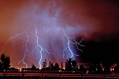 Lightning Photograph - Herriman Bolts by Jeremiah Nichols