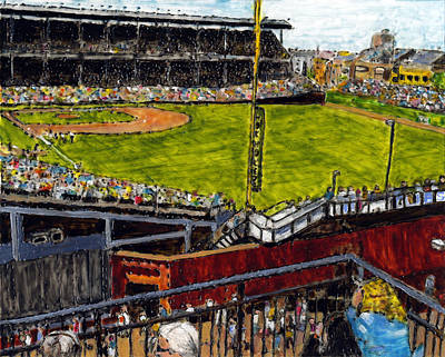 Wrigley Field Painting - Hey Hey 353 by Phil Strang