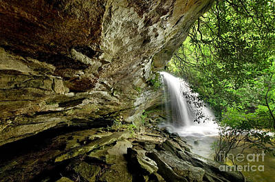 Nature Photograph - Hidden Forest Waterfall by Matt Tilghman