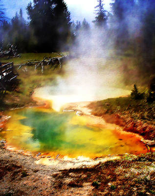 Yellowstone National Park Digital Art - Hidden Gem by Ellen Heaverlo
