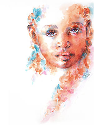 African Child Painting - Hidden Tears by Stephie Butler