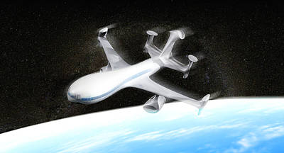 High Altitude Passenger Plane, Artwork Print by Christian Darkin