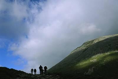 Ben Nevis Photograph - Hikers On Ben Nevis by Joel Sartore