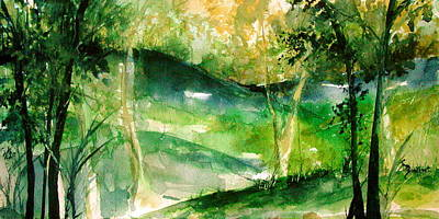 Hills Of Arkansas Print by Robin Miller-Bookhout