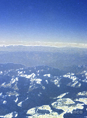 Himalayas Blue Print by First Star Art