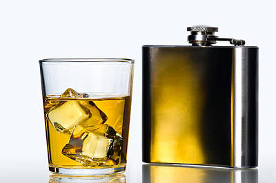 Hip Flask Print by Gert Lavsen