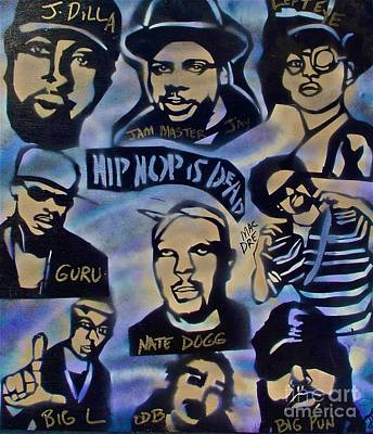 First Amendment Painting - Hip Hop Is Dead #1 by Tony B Conscious