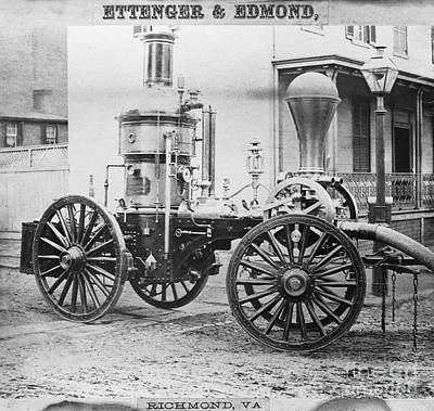 Historic Fire Engine Print by Omikron