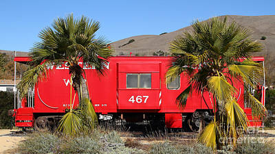 Historic Niles District In California Near Fremont . Western Pacific Caboose Train . 7d10614 Print by Wingsdomain Art and Photography