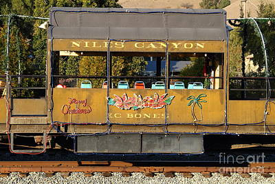 Old Caboose Photograph - Historic Niles Trains In California . Old Niles Canyon Train . 7d10844 by Wingsdomain Art and Photography