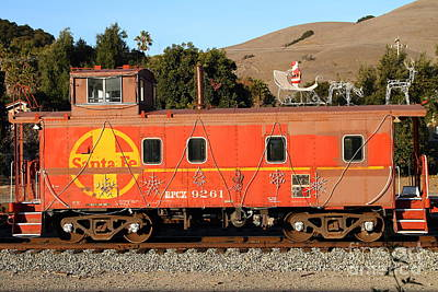 Historic Niles Trains In California . Old Sante Fe Caboose . 7d10832 Print by Wingsdomain Art and Photography