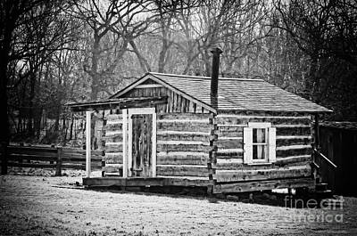Historical Cabin Print by Diana Cox