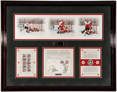 Art Of Hockey Mixed Media - History Unfolds Limited Edition by Daniel Parry