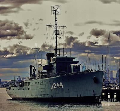 Australian Photograph - Hmas Castlemaine 1 by Blair Stuart