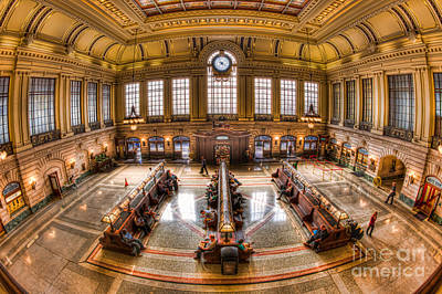 Hoboken Terminal Main Waiting Room I Print by Clarence Holmes