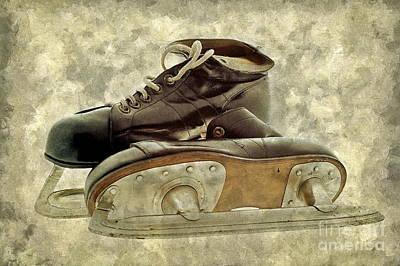 Hockey Boots Print by Dariusz Gudowicz