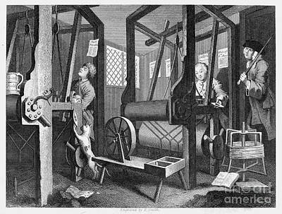 Handloom Photograph - Hogarth: Industry, 1747 by Granger