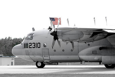 C130 Photograph - Hoisting The Colors by Greg Fortier