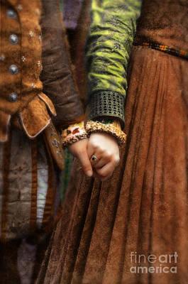 Holding Hands Print by Jill Battaglia