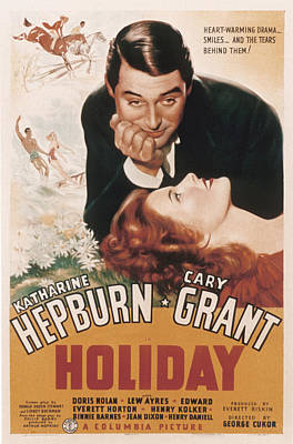Holiday, Cary Grant, Katharine Hepburn Print by Everett