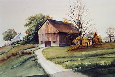 Old Barn Drawing - Holland Patent by Frank Zampardi