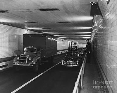 New York Cops Photograph - Holland Tunnel, Nyc by Photo Researchers