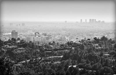 Hollywood From Above Print by Ricky Barnard