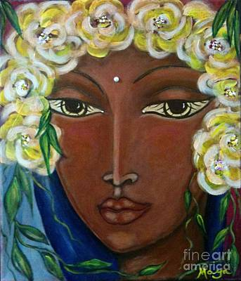 Pele Mixed Media - Holy Heart Of Hawaii by Maya Telford