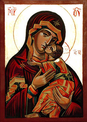 Orthodox Icon Mixed Media - Holy Mother Of God by Filip Mihail
