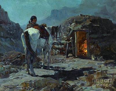 Nightime Painting - Home Of The Navajo by Pg Reproductions
