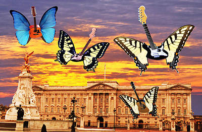 Blue Butterfly Digital Art - Hometown Glory  by Eric Kempson