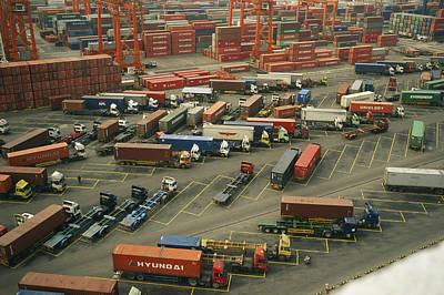 Etc. Photograph - Hong Kong Cargo Terminal, One by Justin Guariglia