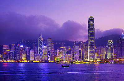 Development Of Life Photograph - Hong Kong Skyline, Victoria Harbour by Scott E Barbour