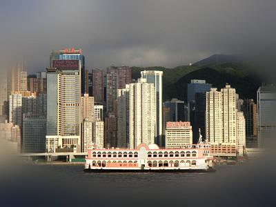 Hong Kong Print featuring the photograph Hong Kong Waterline by Roberto Alamino