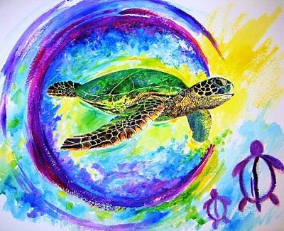 Honu Rebirth Original by Tamara Tavernier