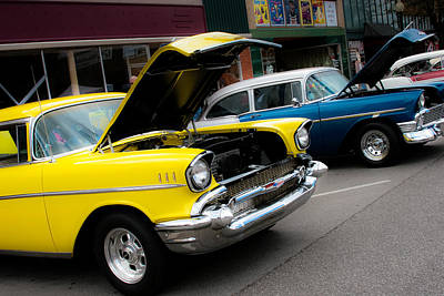 Antique Automobiles Photograph - Hoods Up by Toni Hopper