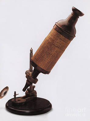 Hookes Microscope Print by Photo Researchers