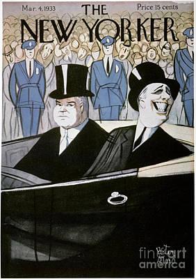 Hoover & F.d. Roosevelt Print by Granger
