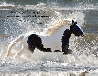 Hooves On The Wind Print by Terry Kirkland Cook