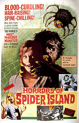 Horrors Of Spider Island, Aka Ein Toter Print by Everett
