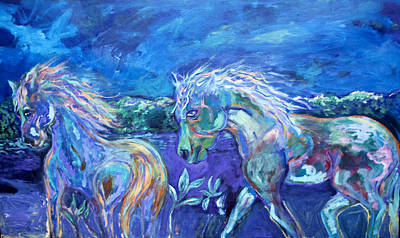 Acryllic Painting - Horse Heaven by Patricia Royce